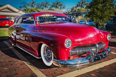 1949 Mercury Club Coupe Painted   Poster by Rich Franco