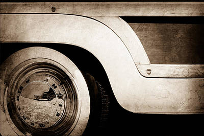 1949 Mercury Station Woodie Wagon Wheel Emblem Poster by Jill Reger