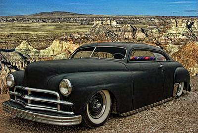 1949 Plymouth Low Rider Poster by Tim McCullough