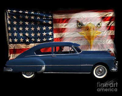 Poster featuring the photograph 1949 Pontiac Tribute Roger by Peter Piatt