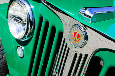 1949 Willys Jeep Station Wagon Grille Emblem Poster by Jill Reger