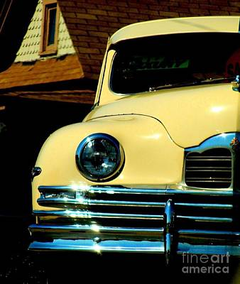 Poster featuring the photograph 1950 Yellow Packard by Janette Boyd