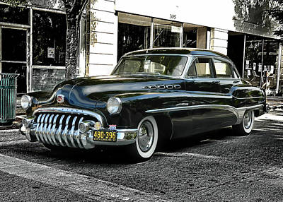 1950 Buick Poster by Victor Montgomery