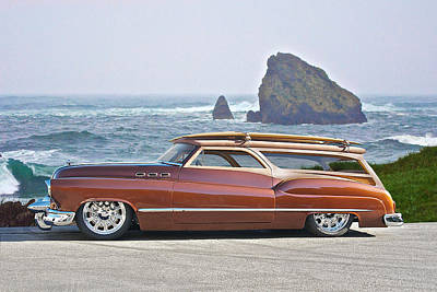 1950 Buick Woody Wagon V Poster by Dave Koontz
