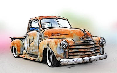 1950 Chevy Truck Poster