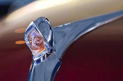 1950 Desoto Custom Sedan Hood Ornament Poster by Jill Reger