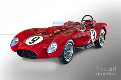 1950 Ferrari 250gt Testa Rossa 'studio' Poster
