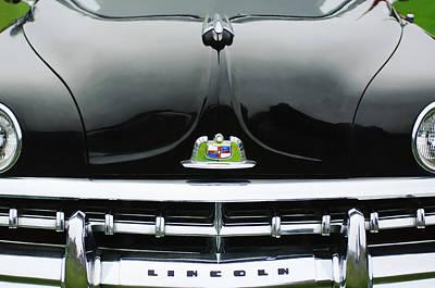 1950 Lincoln Cosmopolitan Henney Limousine Grille Emblem - Hood Ornament Poster by Jill Reger
