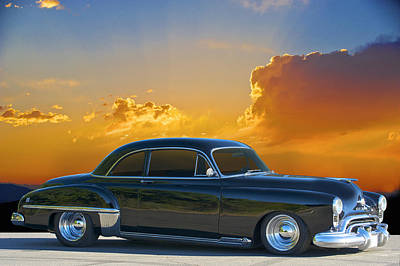 1950 Oldsmobile Coupe Poster by Dave Koontz