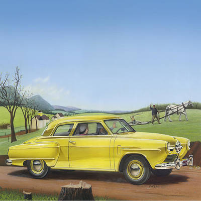 1950 Studebaker Champion - Square Format Image Picture Poster