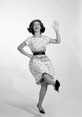 1950s 1960s Excited Smiling Woman Poster