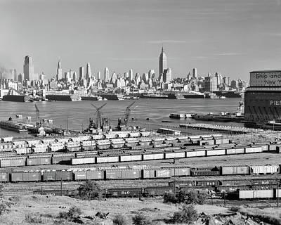1950s 1960s Skyline Midtown Manhattan Poster