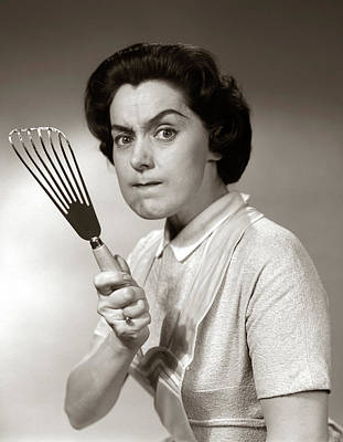 1950s-60s Portrait Of Angry Housewife Poster
