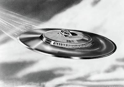 1950s Artists Conception Ufo Flying Poster