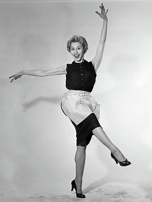 1950s Blonde Woman In Apron Housewife Poster