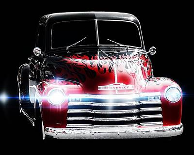 Vintage Cars Poster featuring the photograph 1950's Chevrolet Truck by Aaron Berg