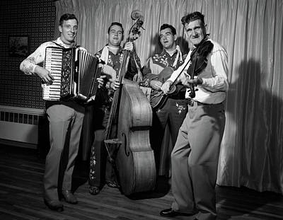 1950s Four-piece Country & Western Band Poster