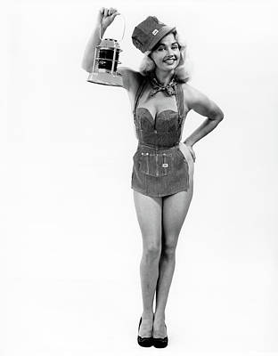 1950s Full Length Portrait Of Blond Poster