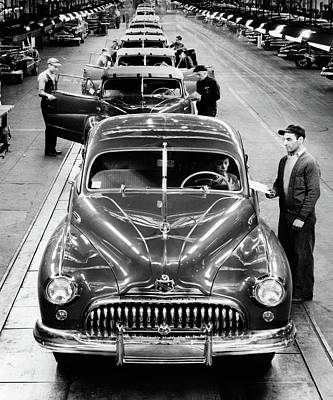 1950s Head-on View Buick Automobile Poster