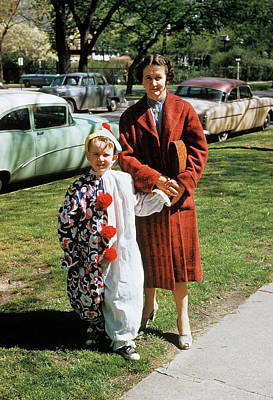 1950s Mother With Sun Dressed In Clown Poster