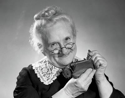 1950s Portrait Of Elderly Granny Poster
