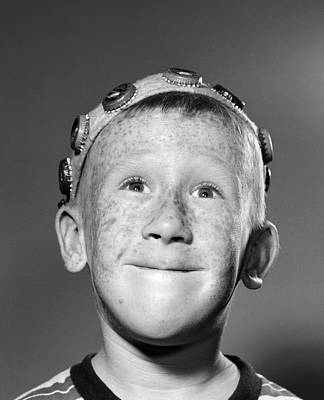 1950s Portrait Of Smiling Freckled Teen Poster