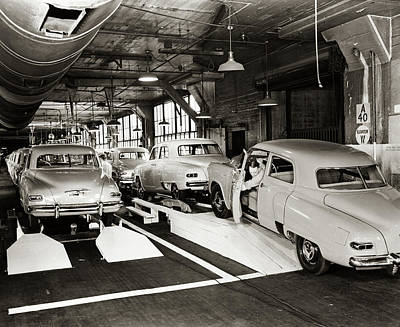 1950s Studebaker Automobile Production Poster