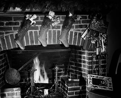 1950s Three Christmas Stockings Full Poster