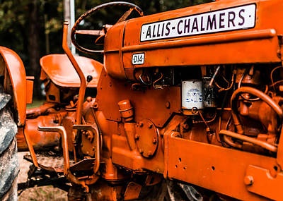 1950s-vintage Allis-chalmers D14 Tractor Poster by Jon Woodhams
