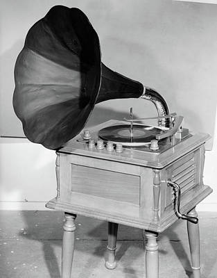 1950s Vintage Gramophone Converted Poster