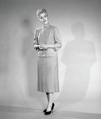 1950s Woman In Suit Looking At Camera Poster