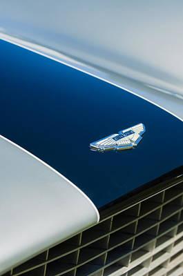 1951 Aston Martin Db2 Coupe Hood Emblem Poster by Jill Reger