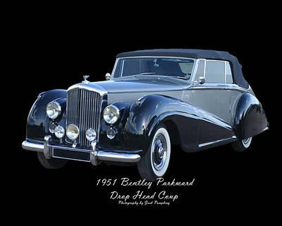 1951 Bentley M K  V I Drop Head Coupe Poster by Jack Pumphrey
