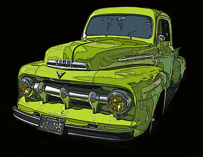 1951 Ford Pickup Truck Poster by Samuel Sheats