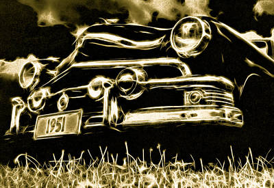 1951 Ford V8 Convertible Poster by Phil 'motography' Clark