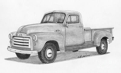 1951 Gmc Pickup Truck Poster