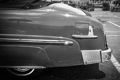 1951 Mercury Convertible Painted Bw   Poster by Rich Franco