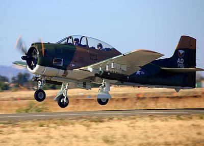 1951 T-28a Trojan Take-off N51705 Poster