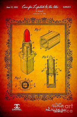 1952 Chanel Lipstick Case 2 Poster by Nishanth Gopinathan