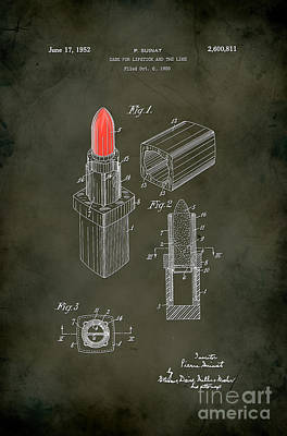 1952 Chanel Lipstick Case 5 Poster by Nishanth Gopinathan