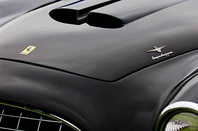 1952 Ferrari 212 225 Barchetta Hood Emblems Poster by Jill Reger