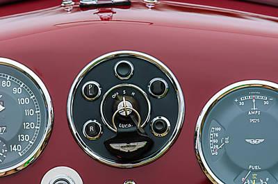 1953 Aston Martin Db2-4 Bertone Roadster Instrument Panel Poster by Jill Reger