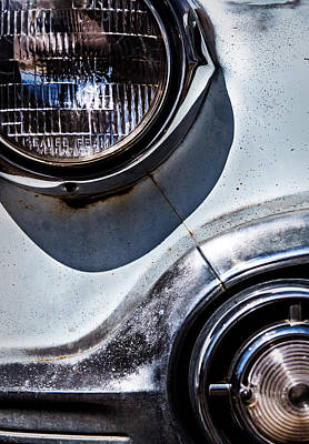 1953 Chevy Headlight Detail Poster