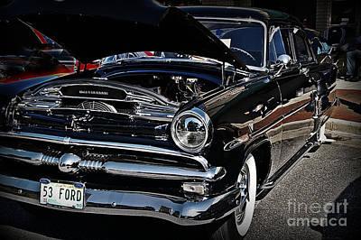 1953 Ford Customline In Classy Black Poster by JW Hanley