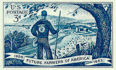1953 Future Farmers Of America Postage Stamp Poster by David Patterson