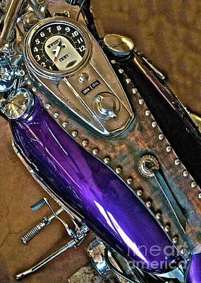 1953 Purple Harley Panhead Poster