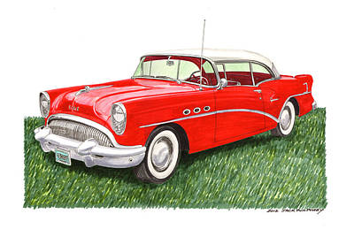 1954 Buick Special Poster by Jack Pumphrey
