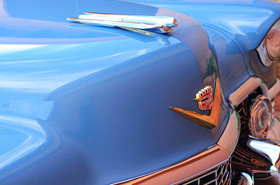 1954 Cadillac Coupe Deville Wheel Emblem - Hood Ornament Poster by Jill Reger