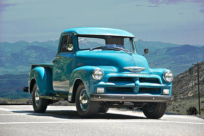 1954 Chevrolet 'down Home' Pick Up Truck Poster by Dave Koontz
