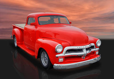 1954 Chevrolet Pickup Truck Poster by Frank J Benz